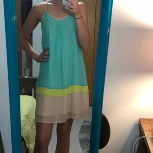Color shift dress